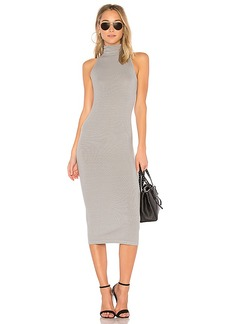 Enza Costa Turtleneck Midi Dress in Gray. - size 0 / XS (also in 2 / M,3 / L)