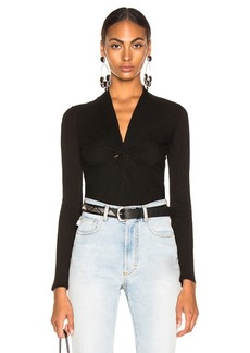 Enza Costa Twisted V Long Sleeve