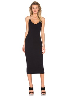 Enza Costa V Neck Tank Midi Dress