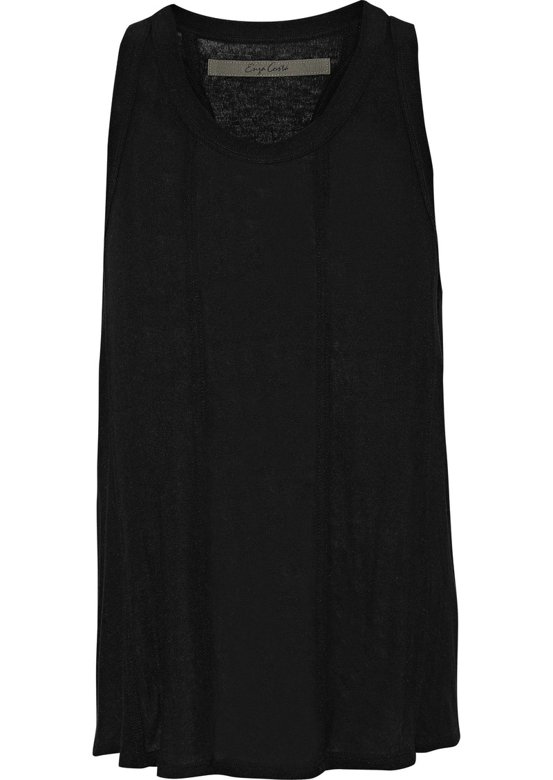 Enza Costa Woman Brushed-jersey Tank Black