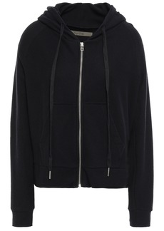 Enza Costa Woman Cotton And Cashmere-blend Jersey Hooded Jacket Black