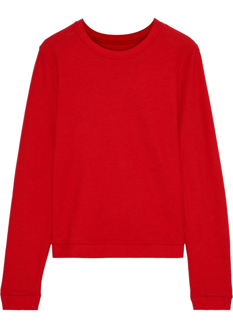 Enza Costa Woman Cotton And Cashmere-blend Top Red