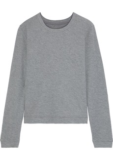 Enza Costa Woman Cotton And Cashmere-blend Top Gray