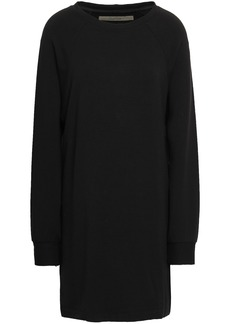 Enza Costa Woman Fleece Mini Dress Black