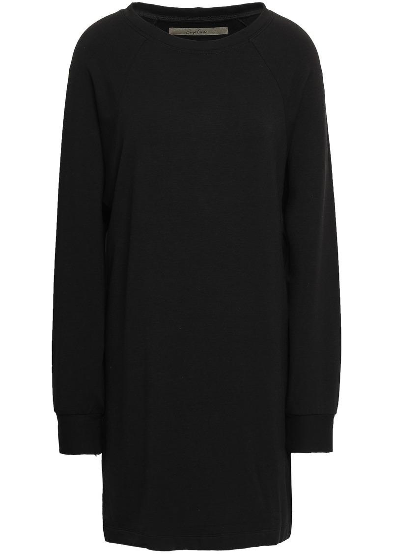 Enza Costa Woman Fleece Mini Dress Black