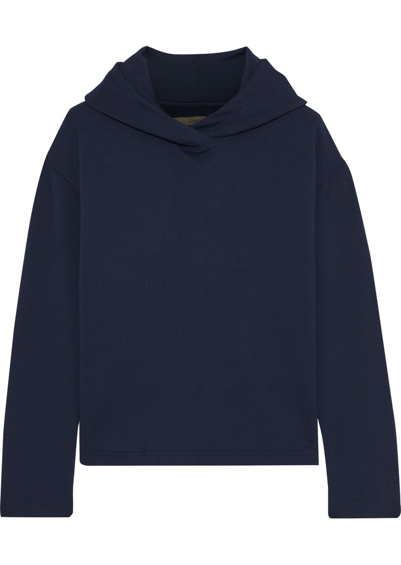 Enza Costa Woman French Terry Hoodie Midnight Blue