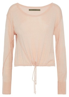 Enza Costa Woman Gathered Stretch-knit Top Blush