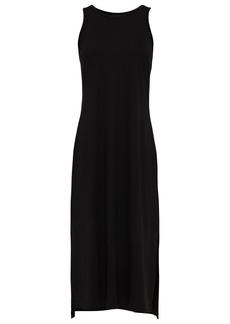 Enza Costa Woman Jersey Midi Dress Black