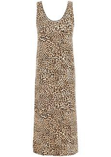 Enza Costa Woman Leopard-print Stretch-jersey Midi Dress Animal Print
