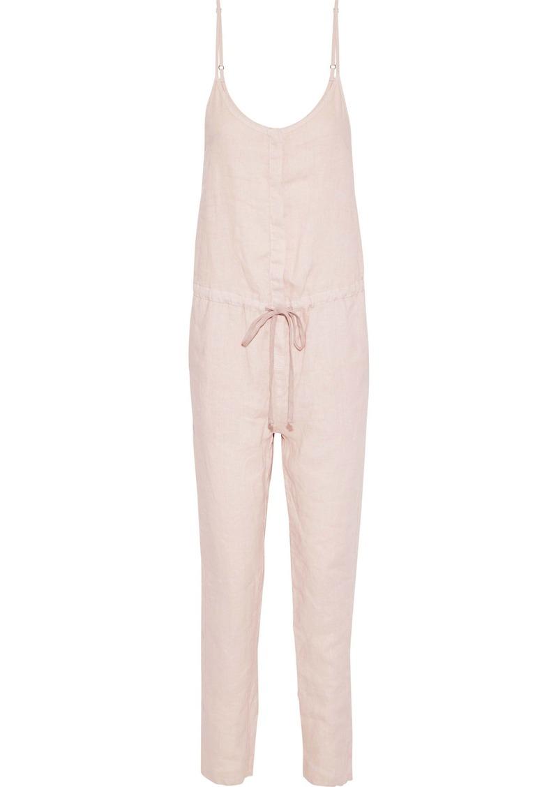 Enza Costa Woman Linen Jumpsuit Blush