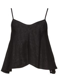 Enza Costa Woman Linen Peplum Camisole Black