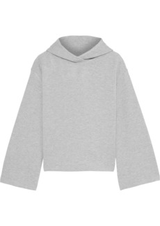 Enza Costa Woman Mélange French Terry Hoodie Gray
