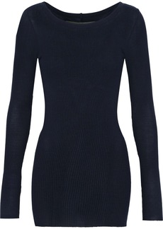 Enza Costa Woman Ribbed Jersey Top Midnight Blue