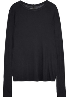 Enza Costa Woman Ribbed-knit Top Dark Gray