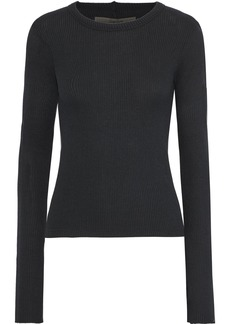 Enza Costa Woman Ribbed Modal-blend Top Black