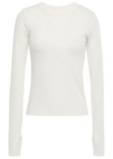 Enza Costa Woman Ribbed Modal-blend Top Ivory