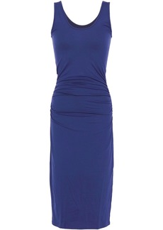 Enza Costa Woman Ruched Jersey Midi Dress Indigo