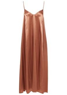 Enza Costa Woman Satin Midi Slip Dress Copper