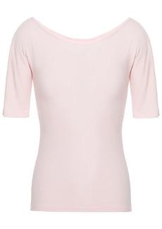 Enza Costa Woman Slub Cotton-jersey T-shirt Blush