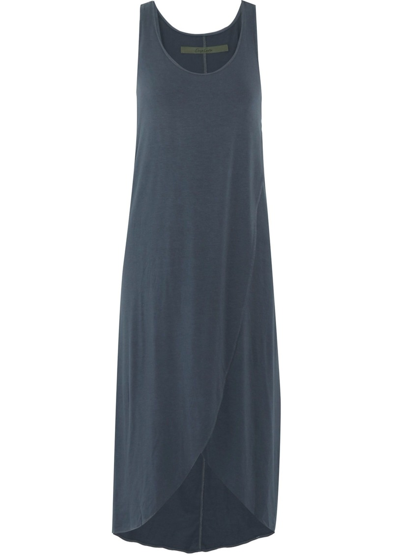 Enza Costa Woman Split-front Stretch-jersey Dress Mid Denim
