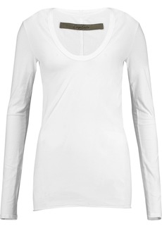 Enza Costa Woman Stretch-cotton Jersey Top White