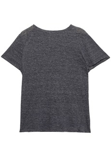 Enza Costa Woman Striped Cotton-jersey T-shirt Anthracite