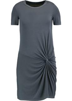 Enza Costa Woman Twist-front Stretch-jersey Mini Dress Storm Blue