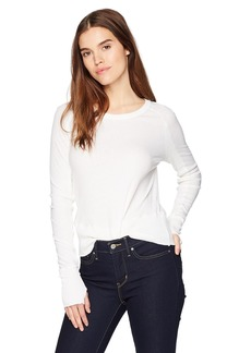 Enza Costa Women's Cashmere Long Sleeve Raglan Top  M
