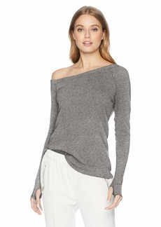 Enza Costa Women's Cashmere Off Shoulder Long Sleeve Top  XS