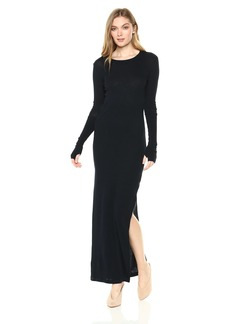 Enza Costa Women's Cashmere Side Slit Maxi Dress  S