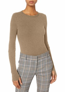 Enza Costa Women's Cashmere Thermal Cuffed Crew Top  XS
