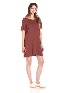 Enza Costa Women's Cotton Jersey Short Sleeve Boy Tee Dress  L