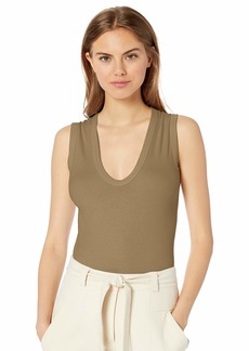 Enza Costa Women's Essential Sleeveless U Neck Tank Top  L