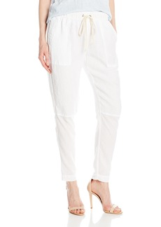 Enza Costa Women's French Linen Voile Panel Easy Pant