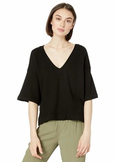 Enza Costa Women's French Terry Easy V-Neck Top  L