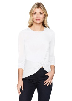 Enza Costa Women's Long Sleeve Side Knot Crew Top  m