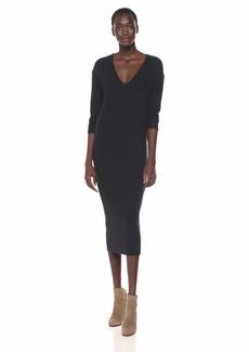 Enza Costa Women's Long Sleeve U-Neck Easy Cocoon Dress  XS