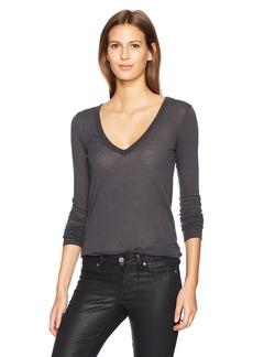 Enza Costa Women's Long Sleeve V-Neck T-Shirt  S