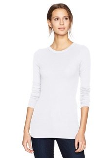 Enza Costa Women's Rib Fitted Long Sleeve Crew Neck Top  m