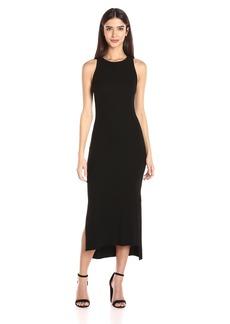 Enza Costa Women's Rib Sleeveless Side Slit Midi Dress  S