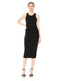 Enza Costa Women's Sheath Tank Side Ruch Midi Dress  S
