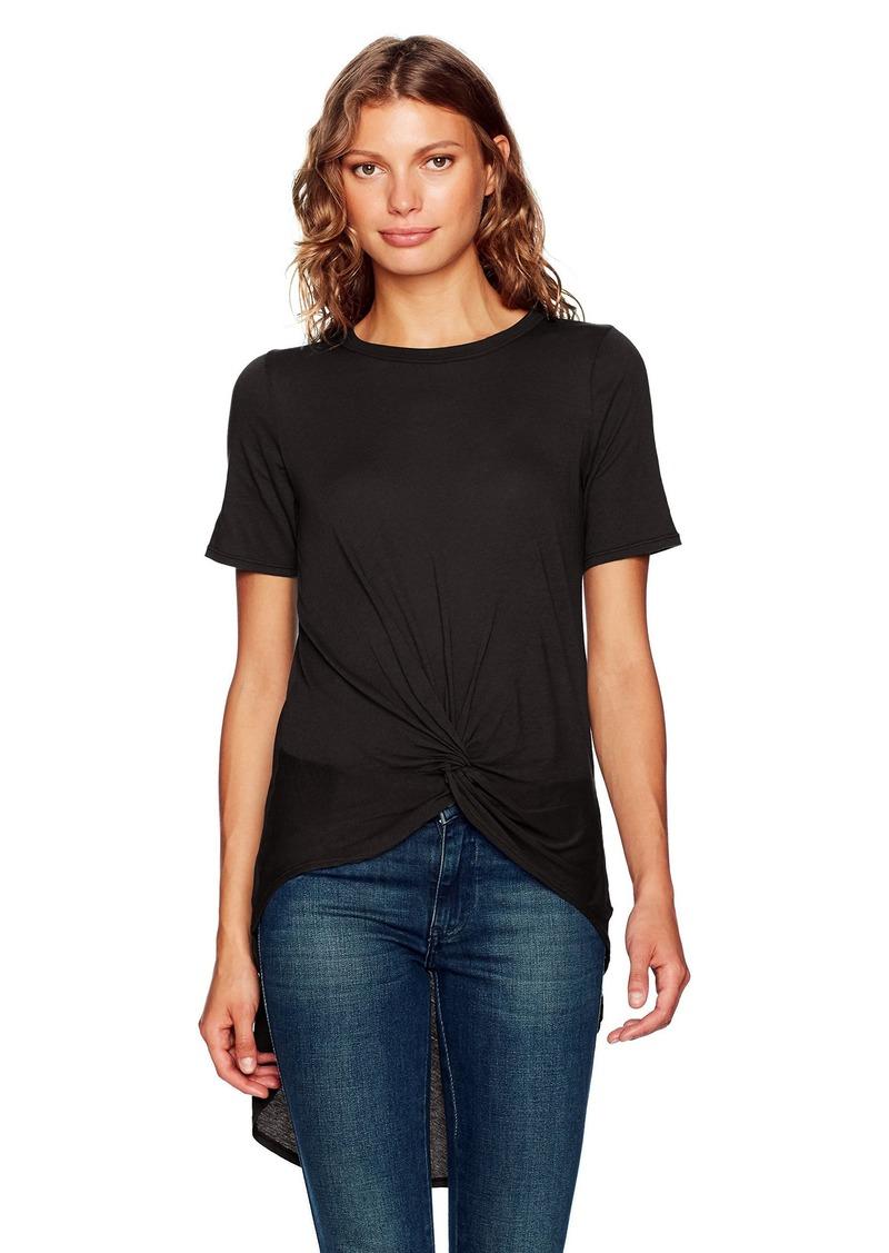 Enza Costa Women's Short Sleeve Knot Hi-lo T-Shirt  M