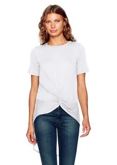 Enza Costa Women's Short Sleeve Knot Hi-Lo T-Shirt  S