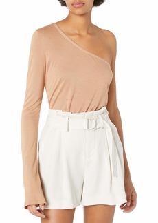 Enza Costa Women's Silk Jersey Long Sleeve One Shoulder  S