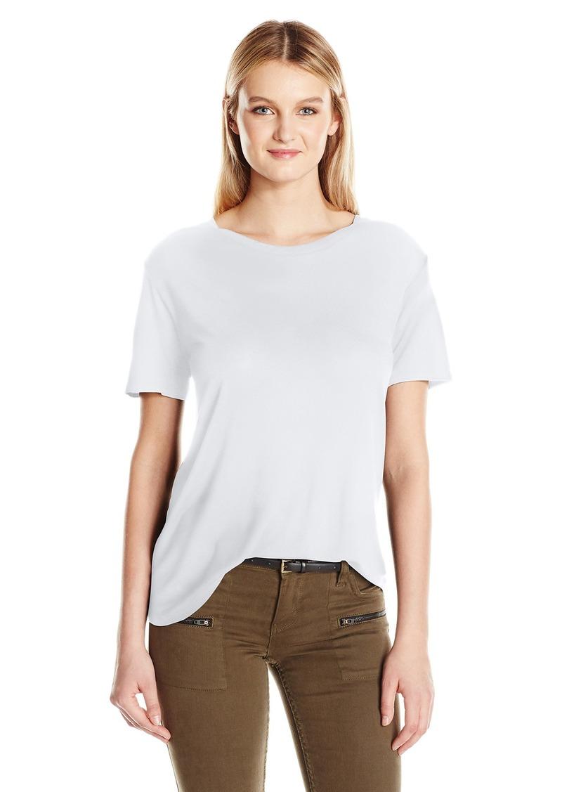 Enza Costa Women's Silk Jersey Short Sleeve Boy Tee  L