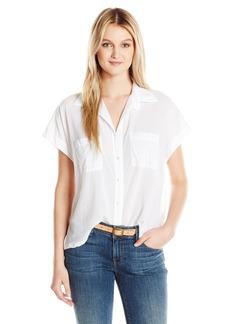 Enza Costa Women's Sleeveless Boxy Shirt  L