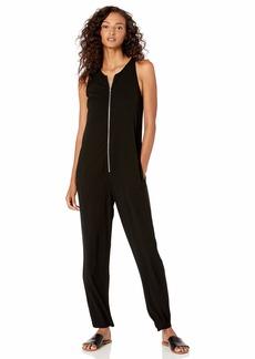 Enza Costa Women's Sleeveless Front Zip Jumpsuit