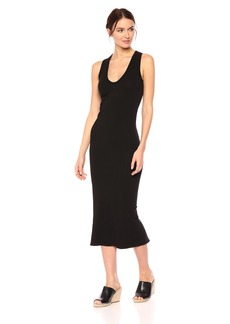 Enza Costa Women's Sleeveless U-Neck Ankle Length Dress  M