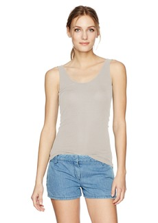 Enza Costa Women's Stretch Silk Rib Jersey Scoop Tank  L