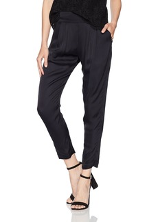 Enza Costa Women's Viscose Sateen Pleated Easy Pant